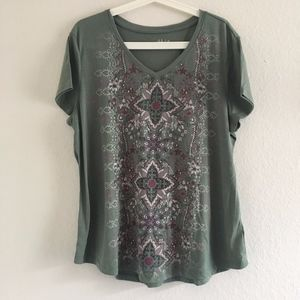 Style & Co Printed T-Shirt